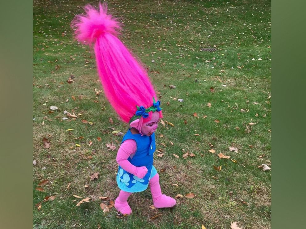 PHOTO: Waters of Ohio and her toddler daughter are making waves on social media after the mother of two transformed Abrielle, 1, into the character, Poppy from the movie, Trolls.