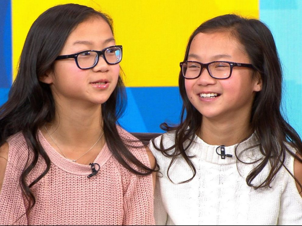PHOTO: Gracie Rainsberry, left, and Audrey Doering, right, appear on Good Morning America one year after meeting each other for the first time.