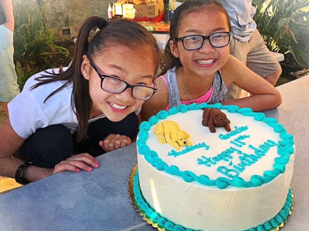 PHOTO: In April, twin sister Audrey Doering and Gracie Rainsberry, who were separated at birth and reunited, celebrated their 11th birthday together.
