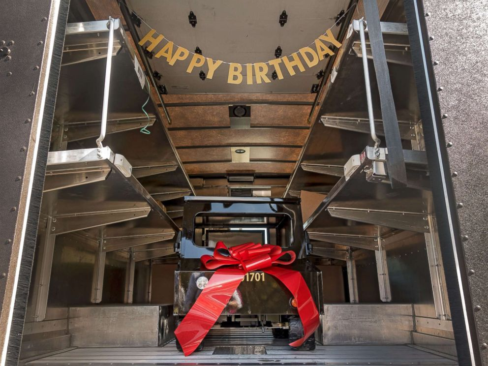 PHOTO: UPS driver Kellie Martin submitted James Walker, 5, for UPSs Wishes Delivered campaign, which delivers mini-UPS trucks to deserving children and organizations around the world, to surprise him for his fifth birthday.