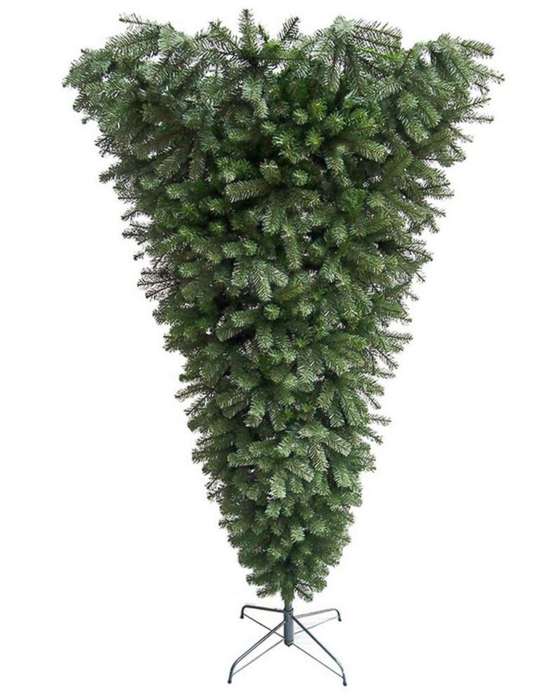 PHOTO: Cap: 7.5-foot upside down spruce Christmas tree sold at Home Depot.