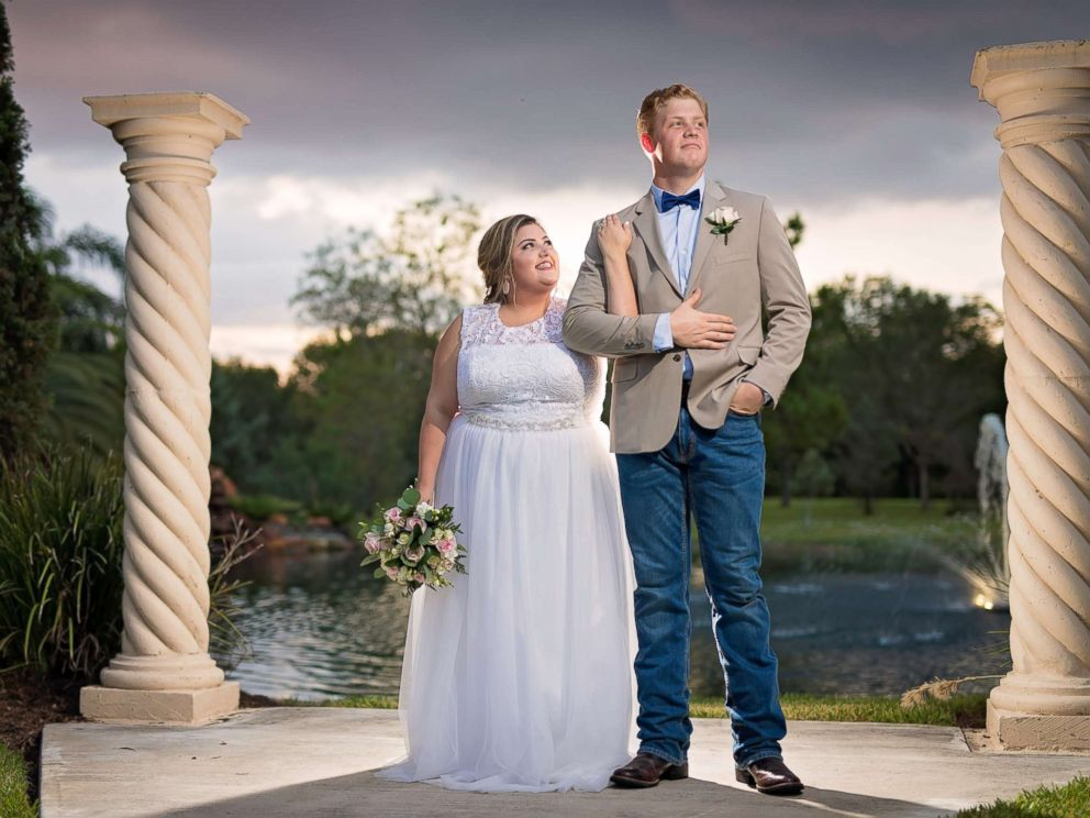 PHOTO: Chloe and Timothy Waterreus of Kingwood, Texas, were surprised with a free dream wedding after their home and original wedding plans were ruined by the storm.