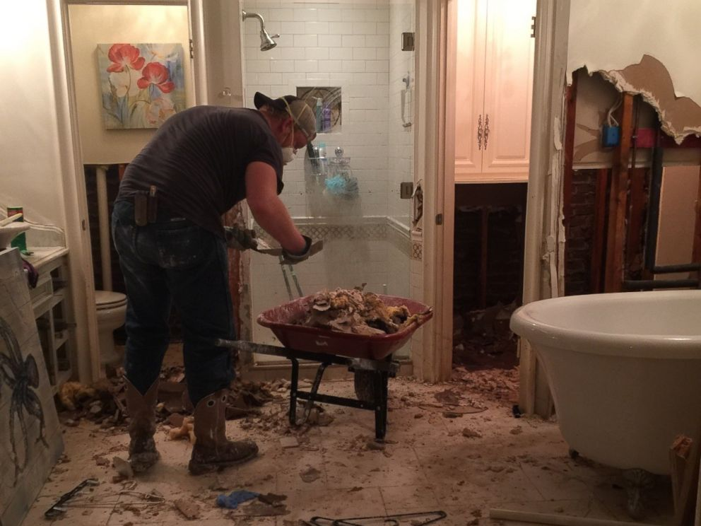 PHOTO: Chloe and Timothy Waterreus home in Kingwood, Texas, was flooded with six feet of water after Hurricane Harvey struck.