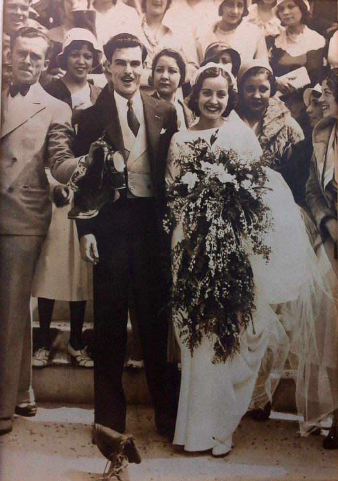 PHOTO: Maria Teresa Moreno and Manuel Moreno pose at their 1932 wedding in Los Angeles.
