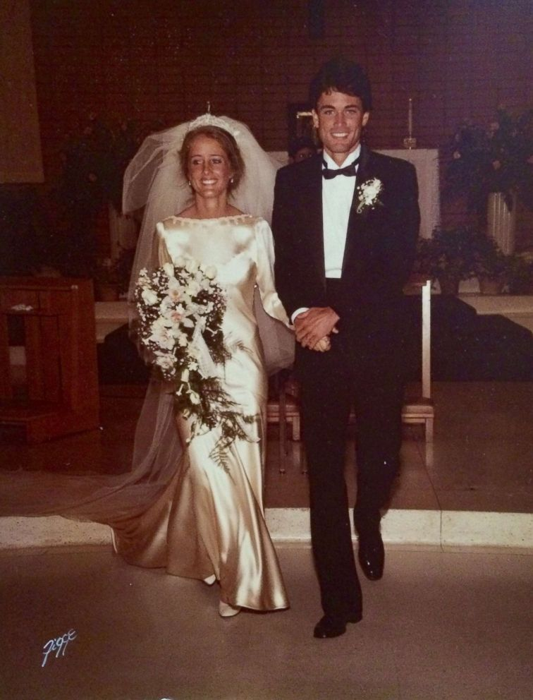 PHOTO: Marta Prietto OHara and Kevin OHara smile on their wedding day in 1983.