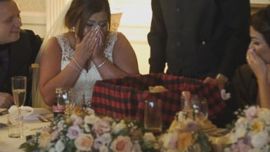 'PHOTO: A bride in Scotland was surprised by her groom with a Westie puppy.' from the web at 'http://a.abcnews.com/images/Lifestyle/westie-3-ht-er-171211_16x9t_384.jpg'