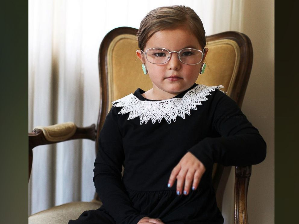 PHOTO: Photographer Gina Lee created a Ruth Bader Ginsburg costume for her 5-year-old daughter, Willow.