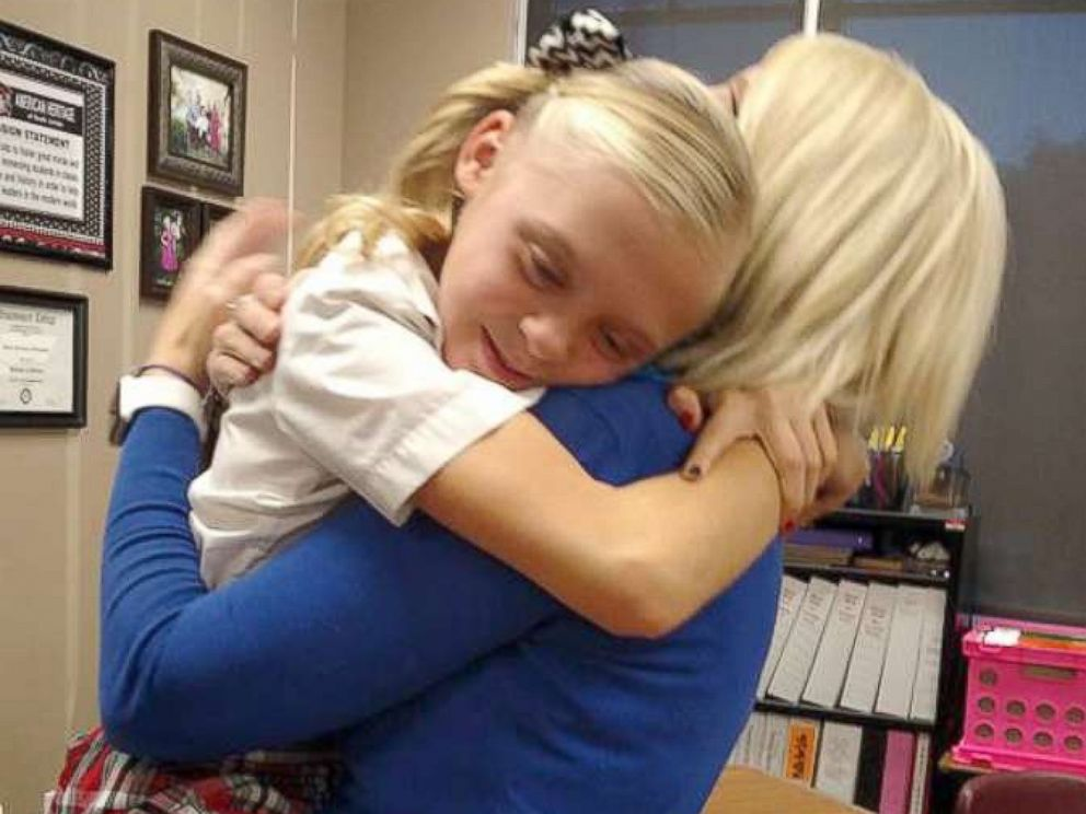 PHOTO: The reaction of Tannah Butterfield, 11, to learning that her foster parents would be adopting her was caught on camera on Oct. 2 by her schools video surveillance in South Jordan, Utah.