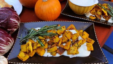 PHOTO: Mario Batali prepares simple family meals, Roasted Pumpkin with Fontina Fonduta, from his new cookbook &quot;Molto Batali,&quot; on GOOD MORNING AMERICA.