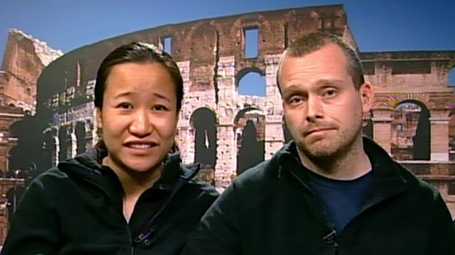 PHOTO: Benji and Emily Smith, of Boston, were aboard the Costa Concordia cruise ship when it capsized off the coast of Tuscany, Friday, Jan. 13.