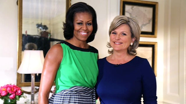 "PHOTO: ""Nightline"" anchor Cynthia McFadden sat down with First Lady Michelle Obama for an exclusive interview at the White House."