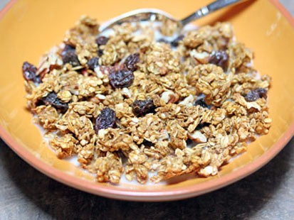 Erin Chase's pumpkin pecan granola recipe is shown here.