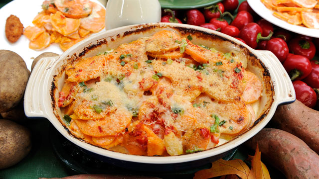 PHOTO: Michael Symon's sweet potato gratin is shown here.