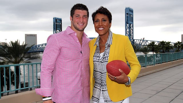 PHOTO: Tim Tebow talked to &quot;Good Morning America&quot; co-anchor Robin Roberts about faith, family and football.