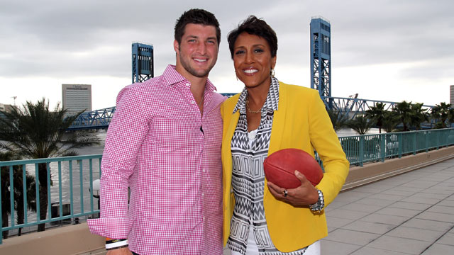 "PHOTO: Tim Tebow talked to ""Good Morning America"" co-anchor Robin Roberts about faith, family and football."