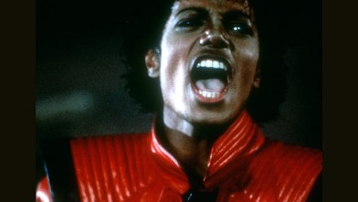 PHOTO: Pop singer Michael Jackson in a still from the video for his hit single 'Thriller' which was released, Los Angeles, California, Dec. 2, 1983.