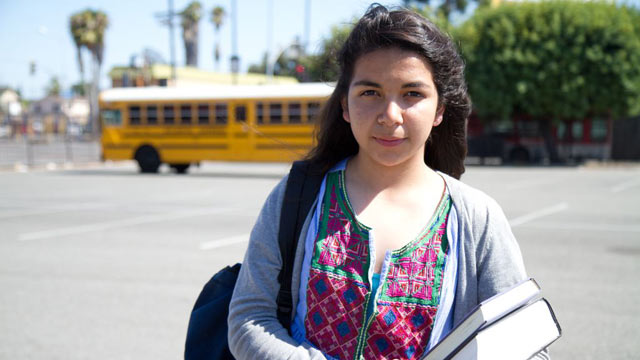 PHOTO: Los Angeles 10th grader Alfa Lopez, is in an innovative program to help her succeed and become the first in her family to go to college.