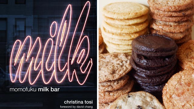 PHOTO: 'Momofuku Milk Bar' cookbook and cookies by Christina Tosi.