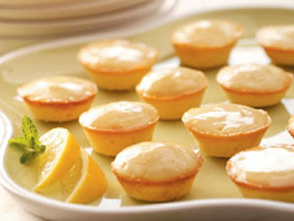 Taste of Home magazine's moist lemon tea cakes are shown.