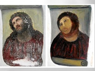Elderly Woman Ruins Fresco in Restoration Attempt