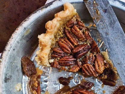 Melissa Clark's spiced maple pecan pie with star anise.