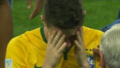 Brazils Tears of Defeat After Germanys Crushing Win*