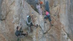 VIDEO: Its Dangerous Work Filming Champion Rock Climbers in Action