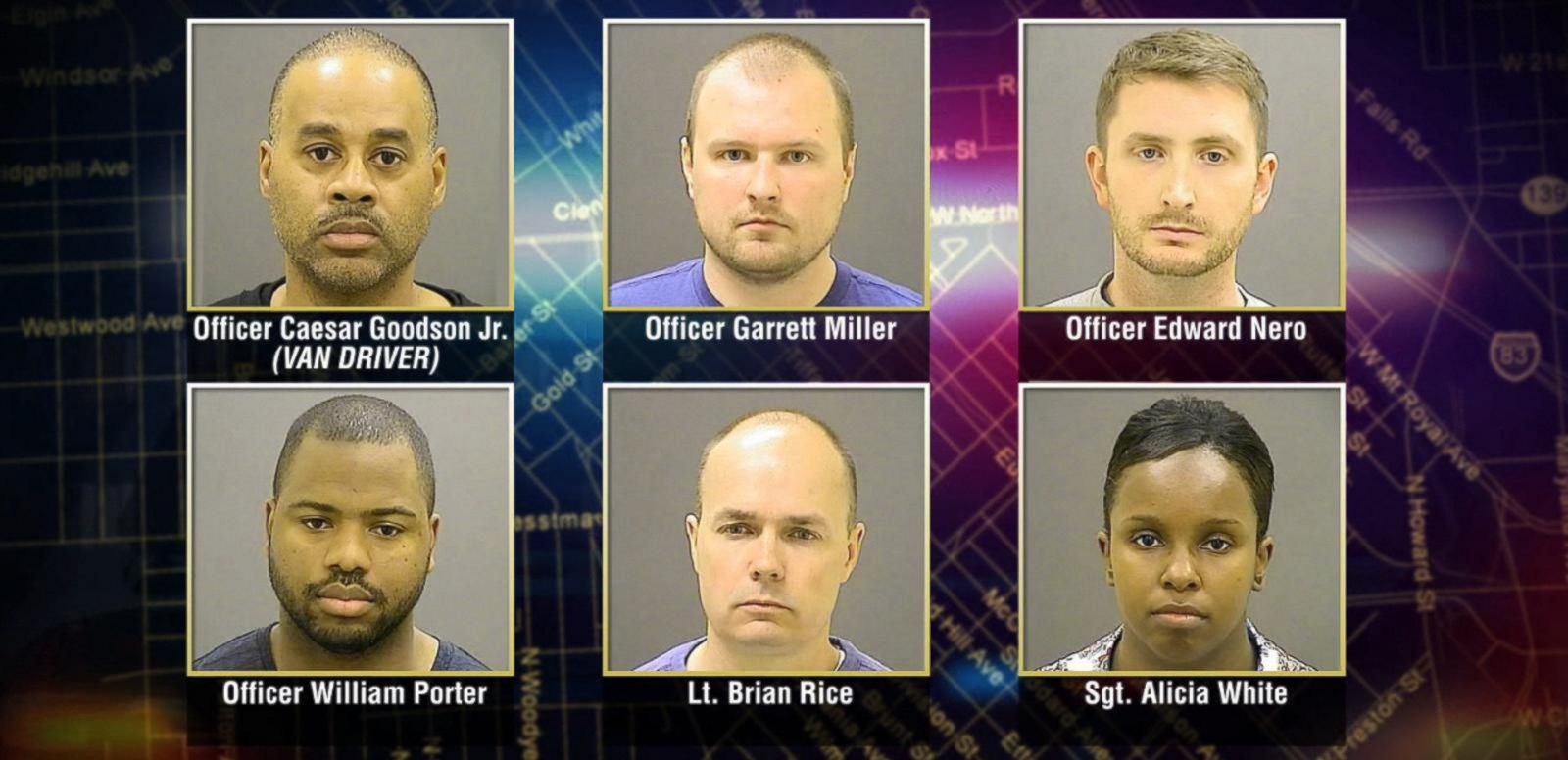 Six Officers Connected to Freddie Gray's Death Face Criminal Charges
