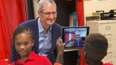 VIDEO: ABCs Robin Roberts spoke to the Apple CEO in an exclusive interview about the companys goals.