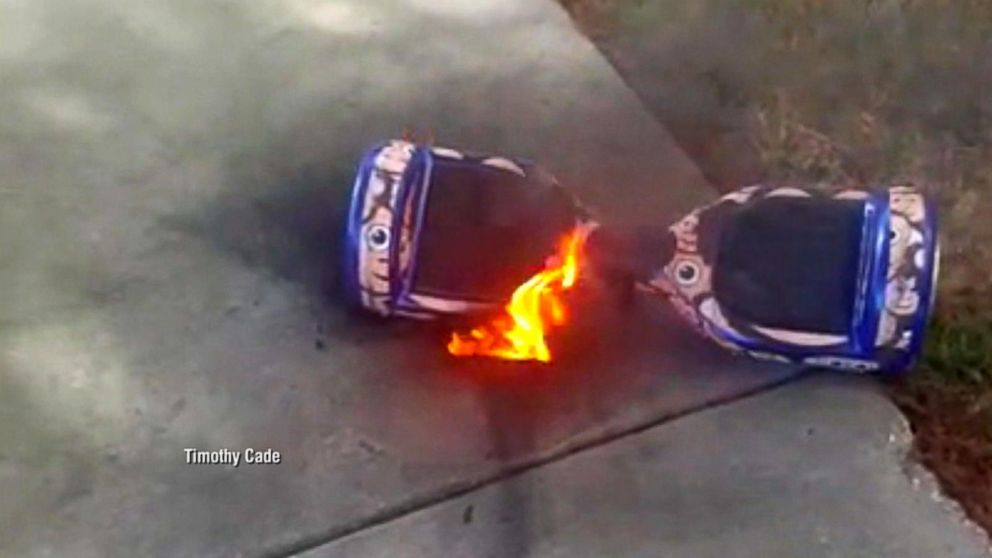hoverboards a hot holiday gift raise potential concerns video abc news. Black Bedroom Furniture Sets. Home Design Ideas