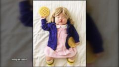 Mom Transforms Sleeping Baby With Costumes Into Famous Characters, Celebs