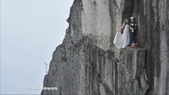 VIDEO: Extreme Wedding Photographers Capture Couples in Dramatic Shots