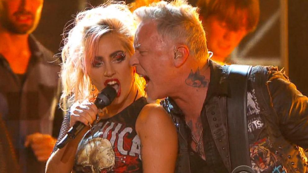 Резултат слика за Metallica and Gaga grammy awards