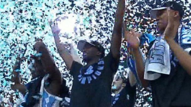 VIDEO:  The North Carolina Tar Heels are the newly crowned NCAA Champions