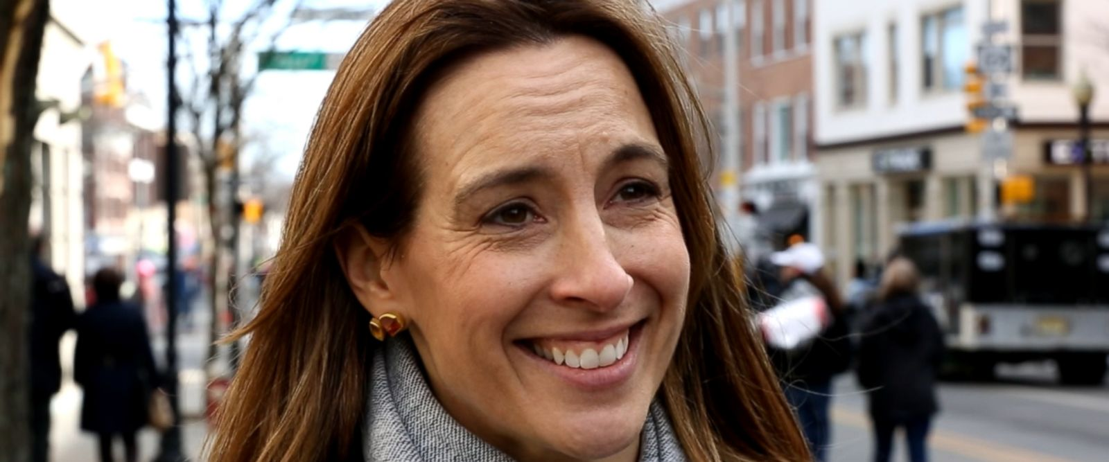 Sherrill, a mother of four, a former pilot and federal prosecutor, is running against a 22-year Republican incumbent in New Jersey's 11th District.