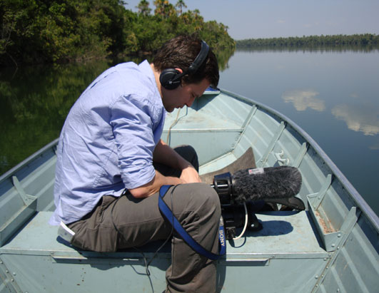 ABC News' Dan Harris shooting during the ten hour journey upriver to meet the tribe.