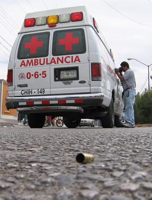 Photo: Mexican border violence.