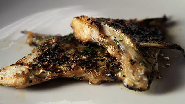 PHOTO: Grilled Loup de mer kama.