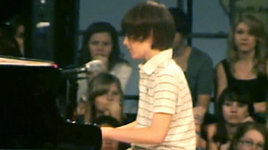 PHOTO Sixth grader Greyson Michael Chance performs a Lady Gaga song on Youtube.