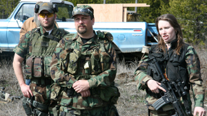 PHOTO Three members of the North Idaho Lightfoot Militia are shown in this file photo.