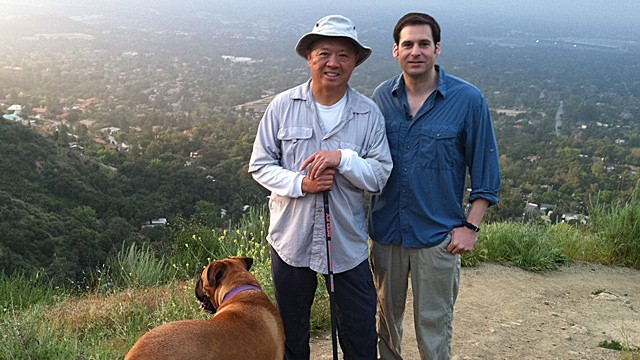 PHOTO:&nbsp;ABC News? John Berman takes a morning hike with Andrew Cherng, CEO of Panda Express, in Pasadena, Calif.