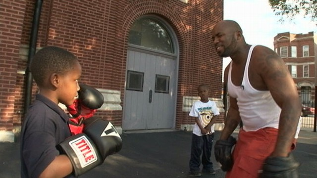 VIDEO: Derek Brown, former leader of the Vice Lords gang in Chicago now runs the a boxing league for kids.