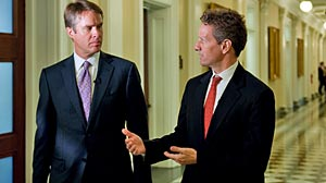 Photo: Geithner: Govt. Still Lacks Capacity to Deal With Future Crisis. In an exclusive interview, Treasury sec. makes case for new regulations on banks Geithner: Govt. Needs Better Crisis Management Tools.