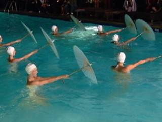 Watch: Glamorous Synchronized Swimmers Make Big Hollywood Splash