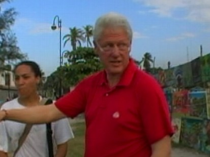 President Clinton in Haiti