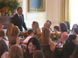 Watch: Michelle Obama Hosts Kids' 'State Dinner'
