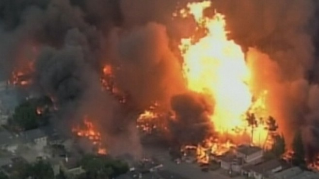 Natural Gas Explosion In Homes