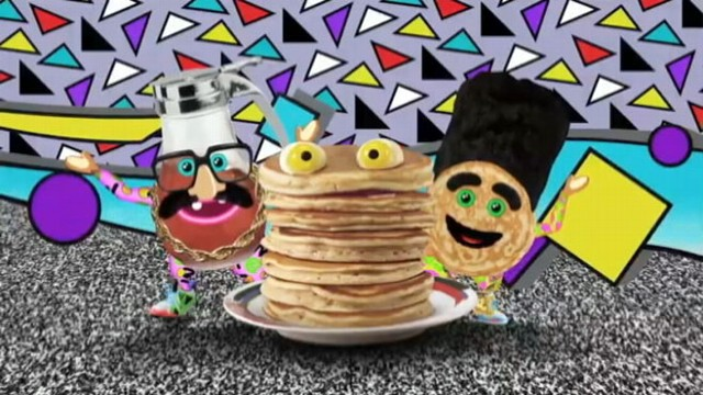 "VIDEO: Yo Gabba Gabbas Bizmarkee shares a taste of his new song, ""Pancakes and Syrup."""