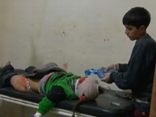 Watch: In Syria, Children Tend to Wounded