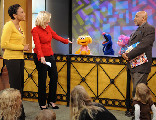 Sesame Street 40th Anniversary Robin Roberts Diane Sawyer